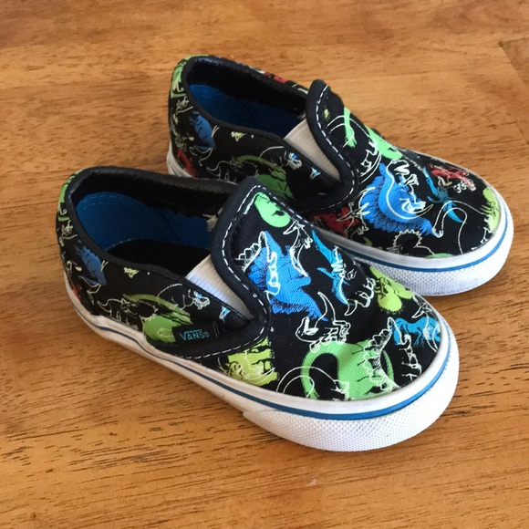 456474a16a3 Vans dinosaur toddler shoes